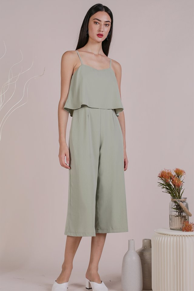Anara Tiered Jumpsuit (Seafoam)