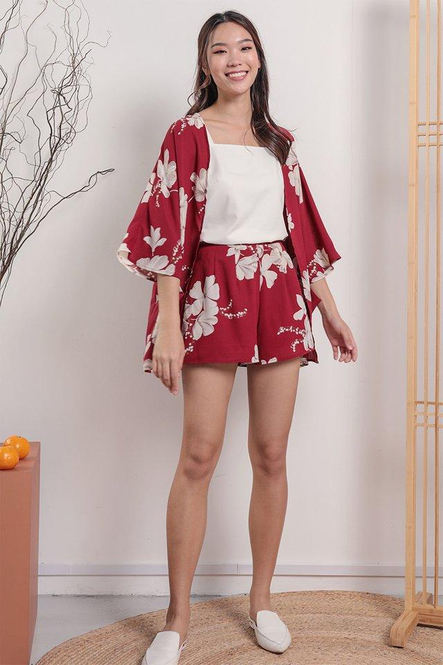 Ryu Kimono (Red Florals)