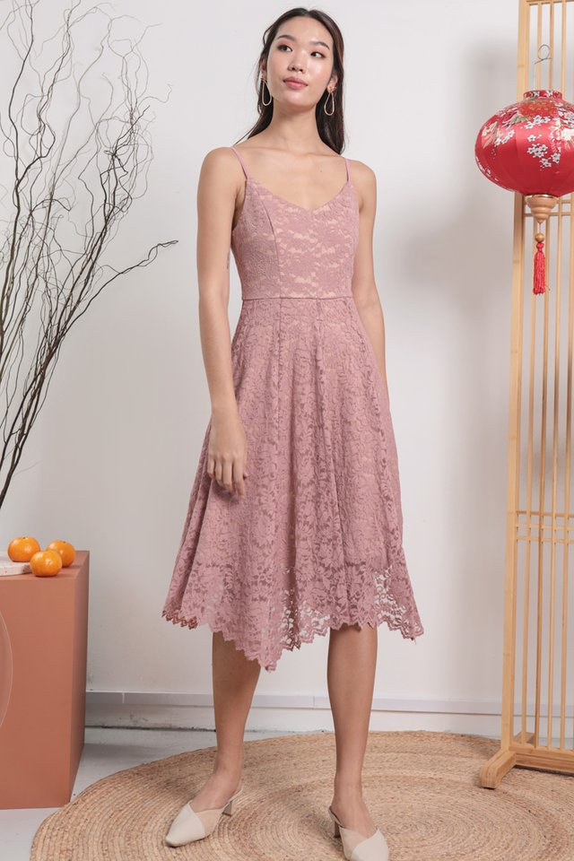 Halley Lace Dress (Blush Pink)