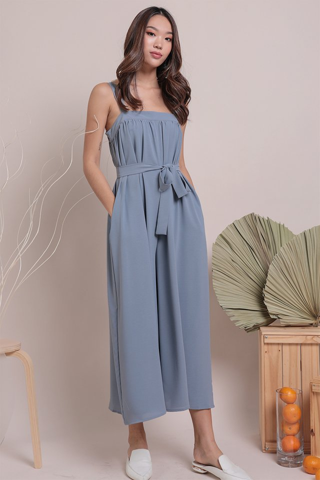Madison Jumpsuit (Dusty Blue)