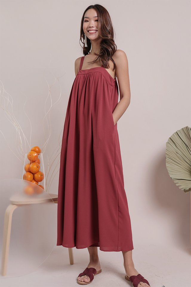 Madison Jumpsuit (Crimson)