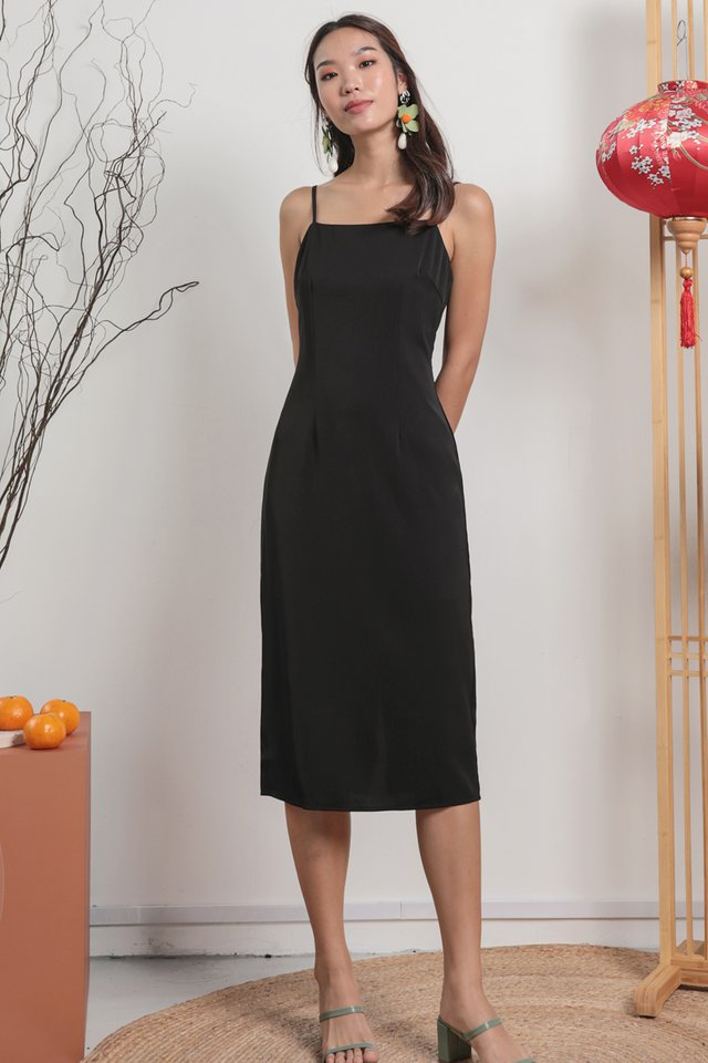 Swift Midi Dress (Black)