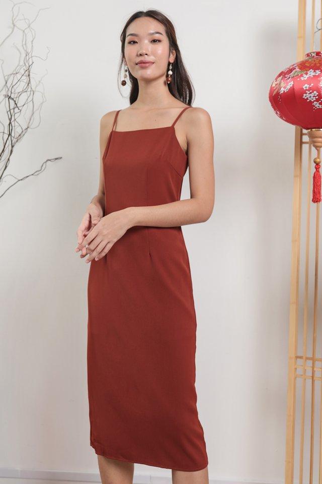 Swift Midi Dress (Rust)