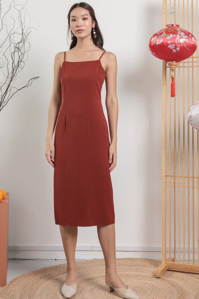 Swift Midi Dress (Rust)