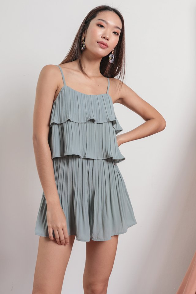 Maisy Pleated Set (Ash Blue)