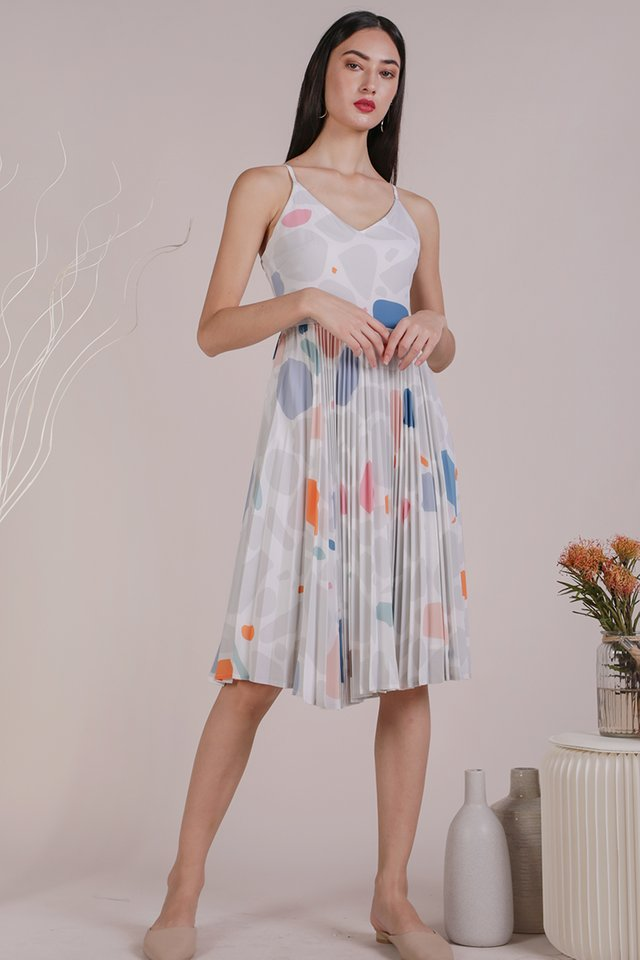 Kiki Pleated Dress (Rock Candy)