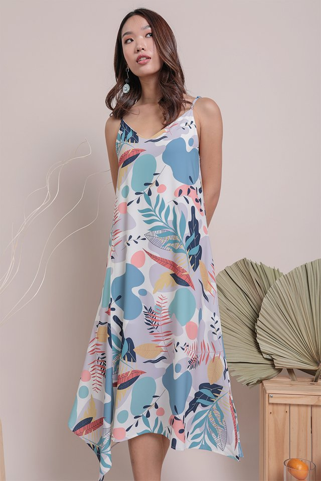 Tayla Slip Dress (Tropical)