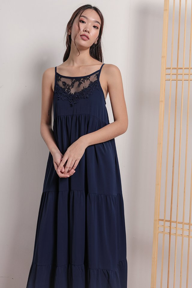 Arla Lace Maxi Dress (Navy)