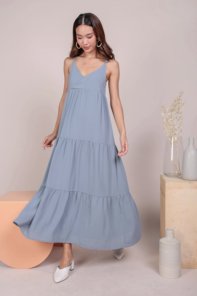 Ara Tiered Maxi (Dusty Blue)