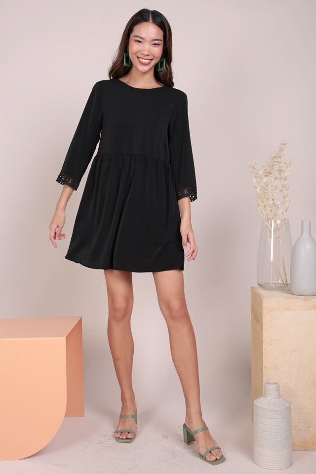Chantel Crochet Dress (Black)