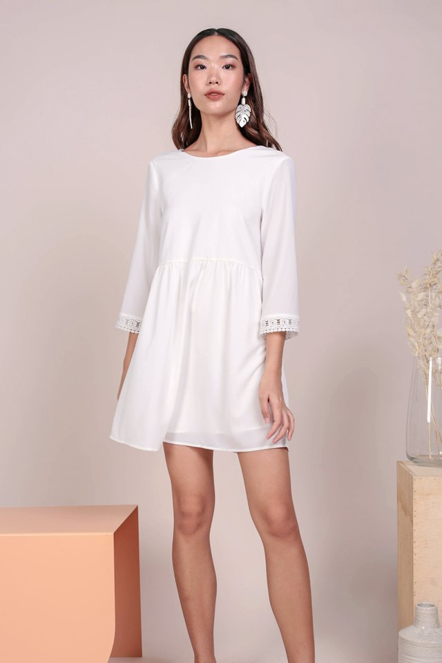 Chantel Crochet Dress (White)