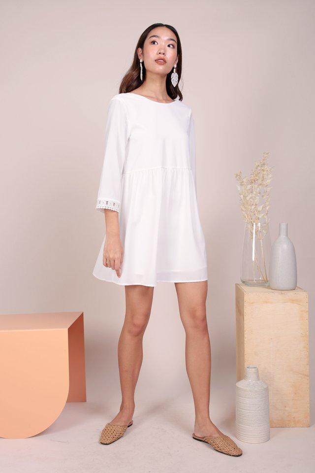 Chantel Crochet Dress (White)