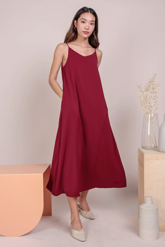 Faye Maxi Dress (Maroon)