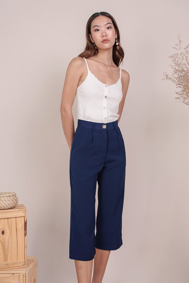 Clan Straight Leg Culottes (Navy)