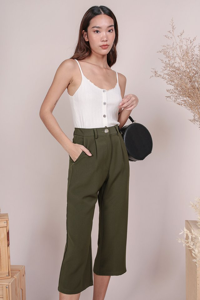 Clan Straight Leg Culottes (Olive)