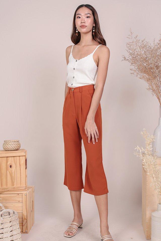 Clan Straight Leg Culottes (Tangerine)