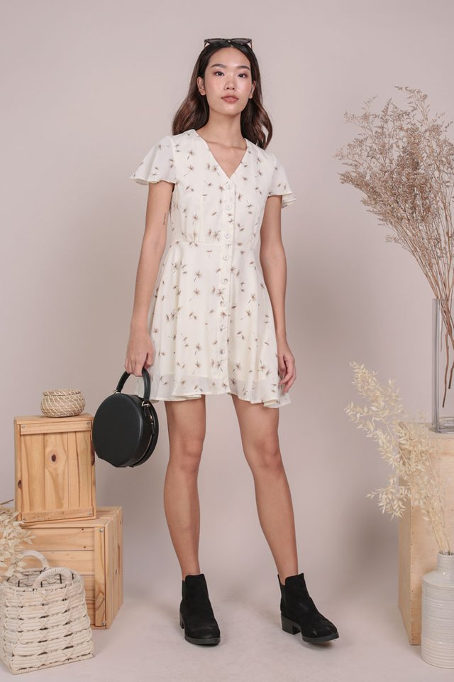 Pris Button Down Dress (Dandelion Cream)