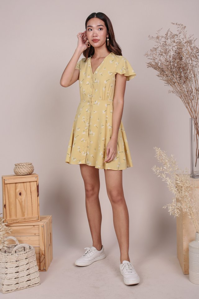 Pris Button Down Dress (Dandelion Yellow)
