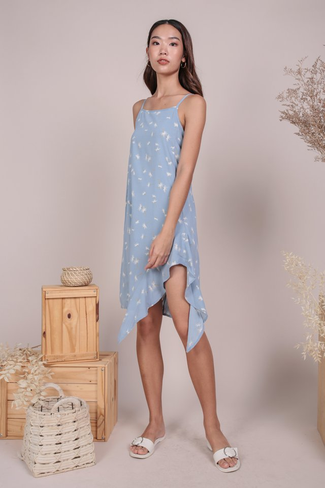 Linsay Ruffles Hem Dress (Dandelion Blue)