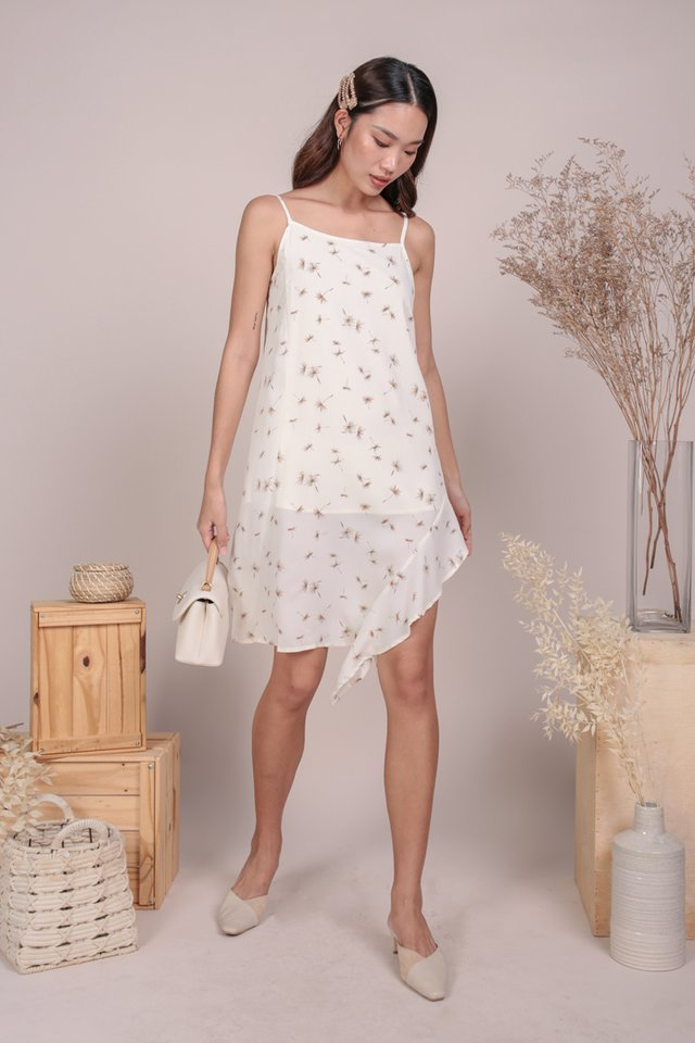 Linsay Ruffles Hem Dress (Dandelion Cream)