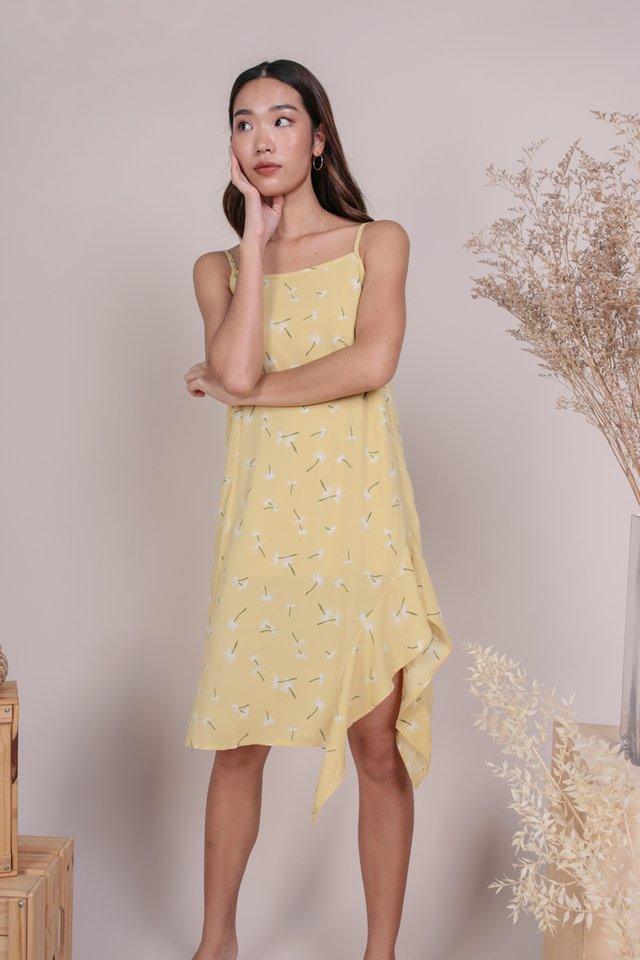 Linsay Ruffles Hem Dress (Dandelion Yellow)