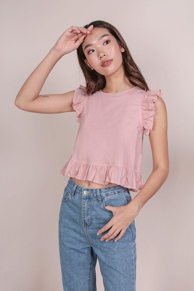Sadia Ruffles Top (Pink)