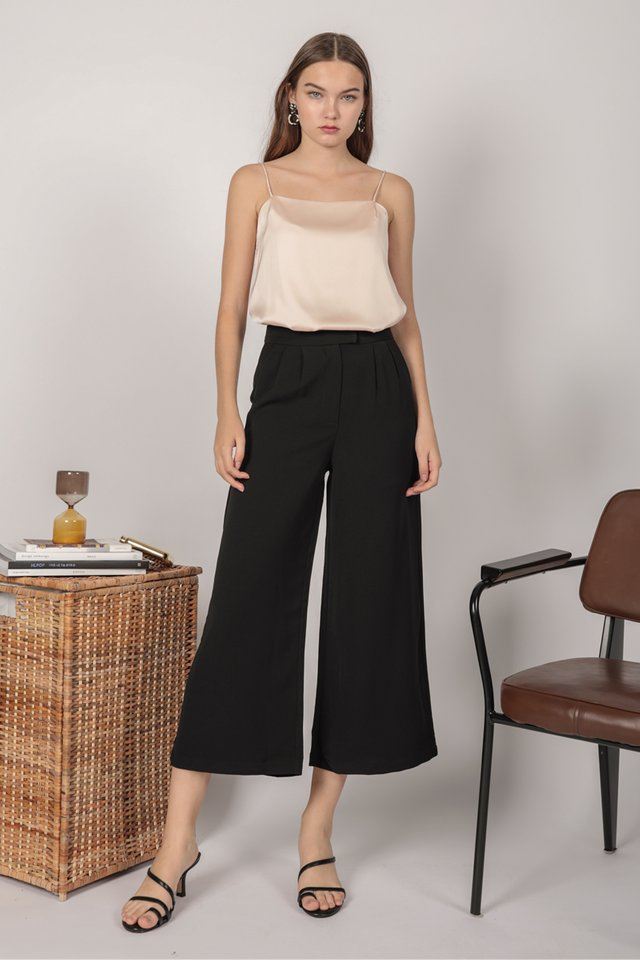 Callen Wide leg Pants (Black)