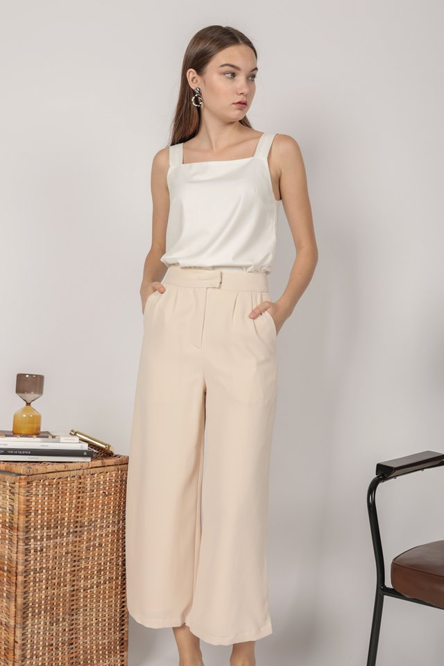 Callen Wide leg Pants (Cream)
