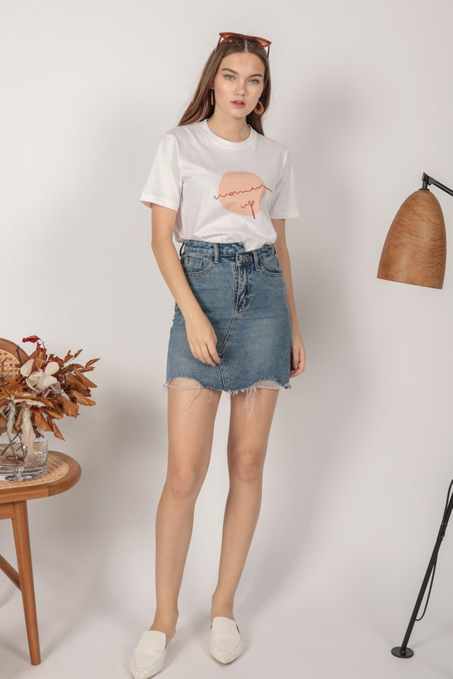 Lex Ripped Denim Skirt