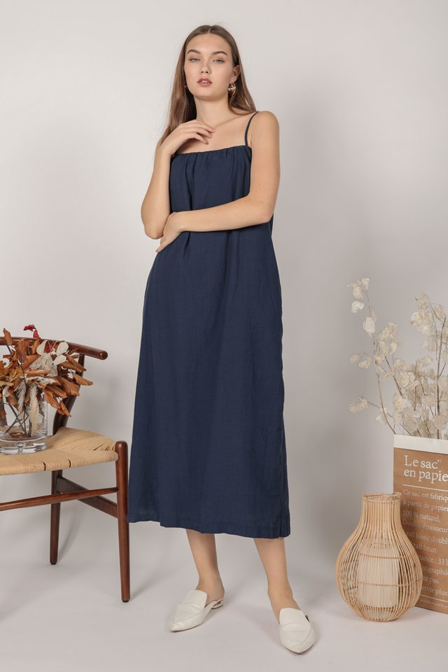 Talley Midi Dress (Navy)