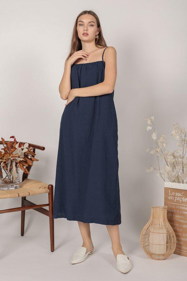 Talley Midi Dress (Navy)