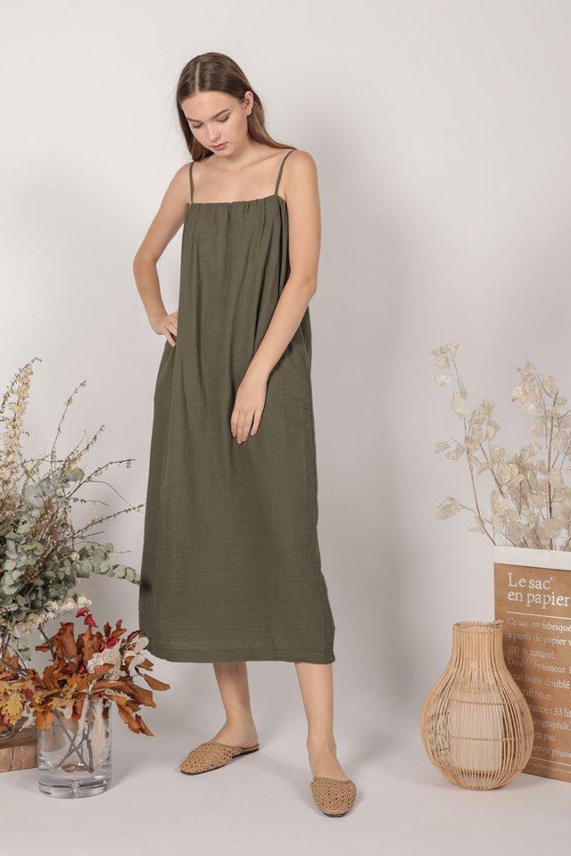 Talley Midi Dress (Olive)