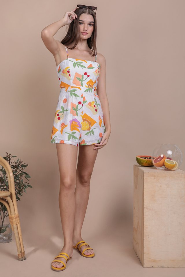 Dalby Spag Romper (White Tropical)