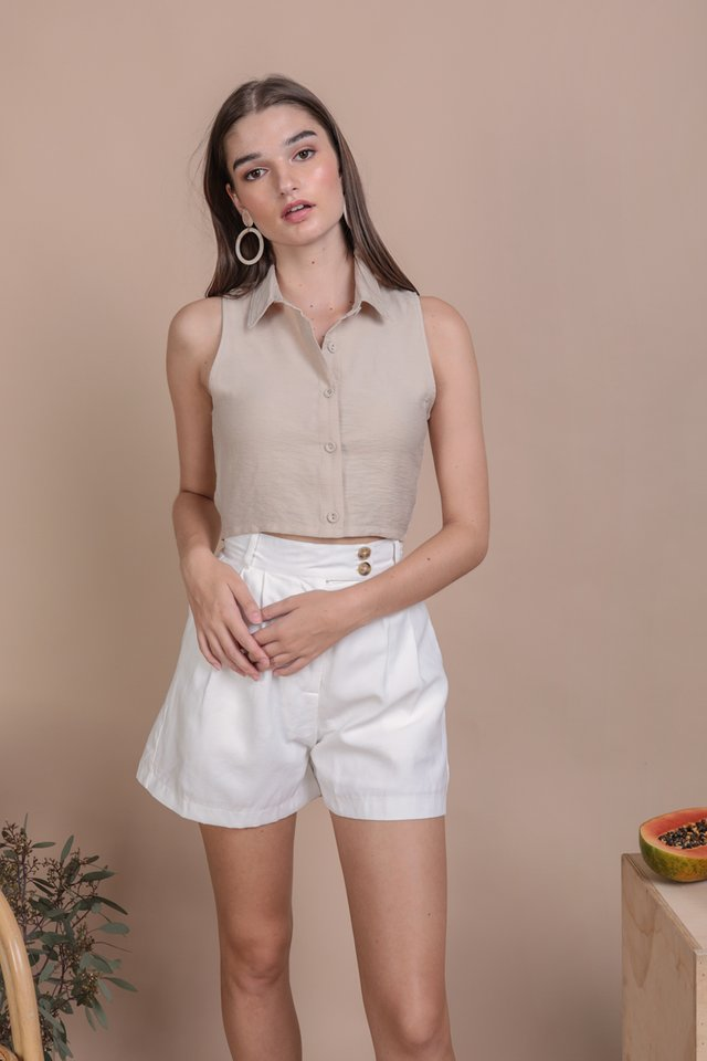 Geller Collared Top (Nude)