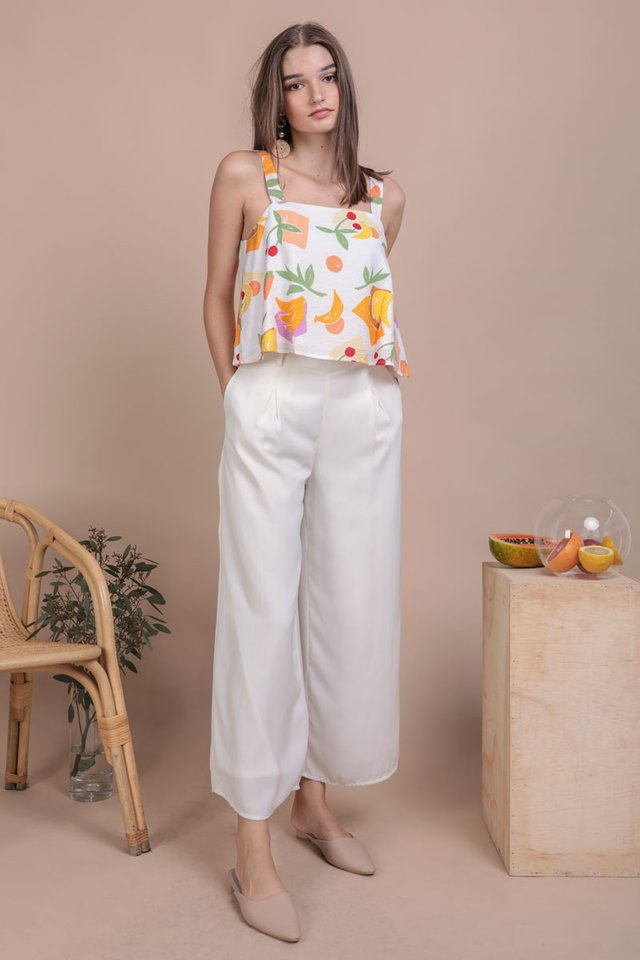 Nixon Flare Top (White Tropical)