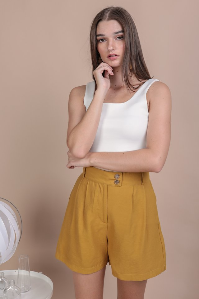 Oda Button Shorts (Mustard)