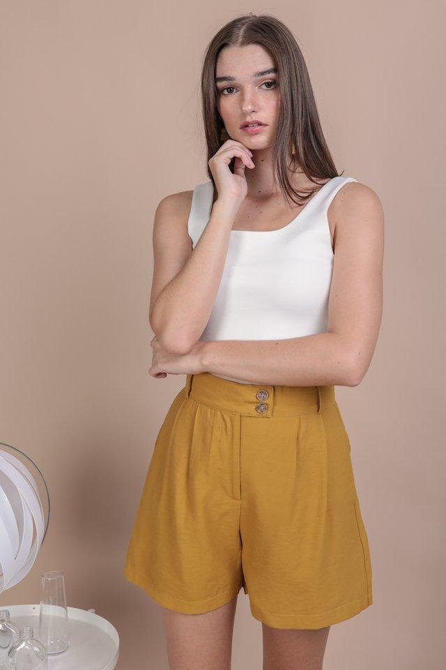 Oda Button Shorts (Mustard)