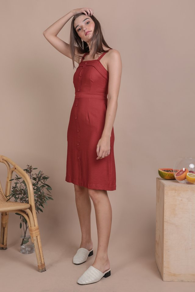 Tasmin Button Down Dress (Scarlet)