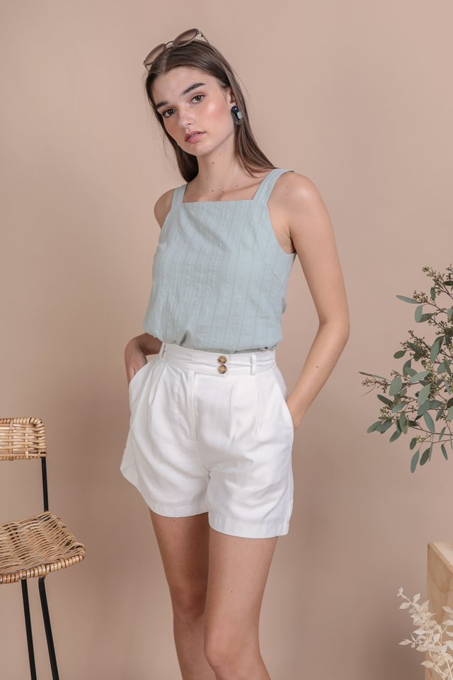 Lexa Basic Top (Seafoam Embroidery)