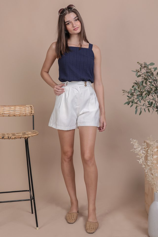 Lexa Basic Top (Navy Embroidery)