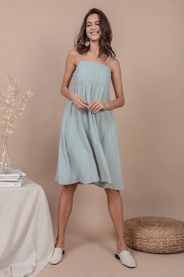 Renee Babydoll Dress (Seafoam Embroidery)