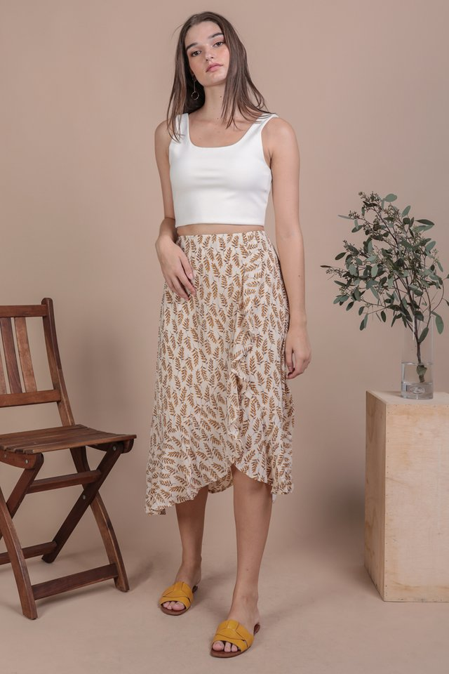 Destiny Ruffles Skirt (Leaves)