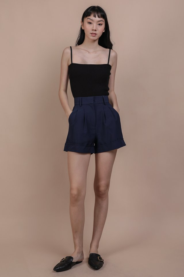 Brook Tailored Shorts (Navy)