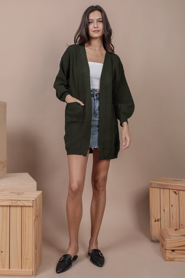 Oscar Knit Cardigan (Forest Green)