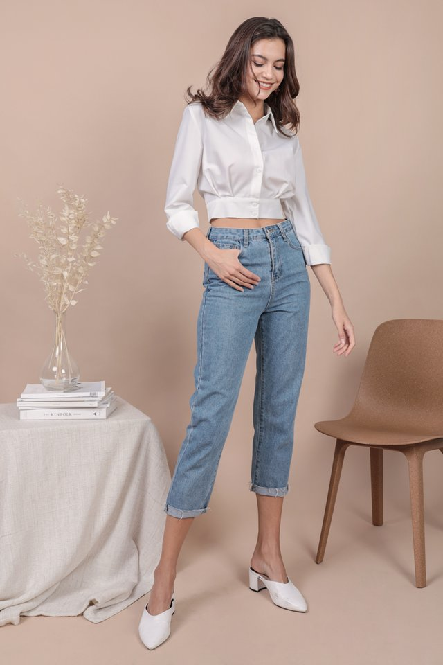 Sami Cropped Shirt (White)
