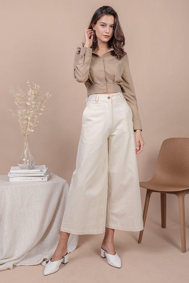Kenzo Wide Leg Pants (Cream)
