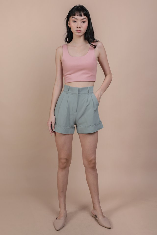 Brook Tailored Shorts (Seafoam)