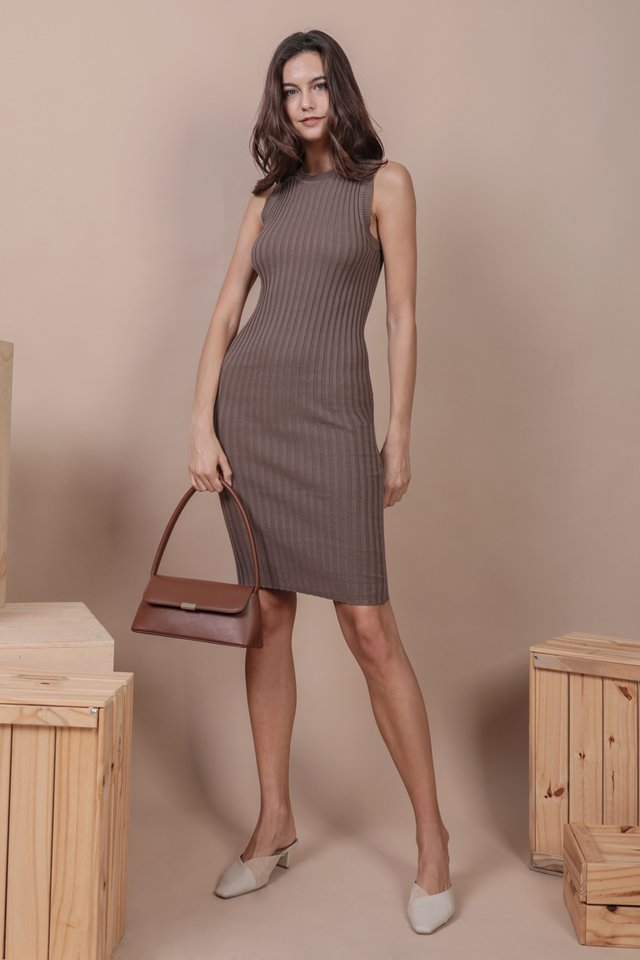 Herman Knit Dress (Mocha)