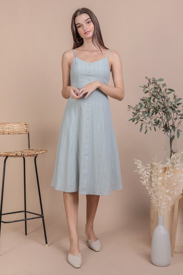 Libby Midi Dress (Seafoam Embroidery)