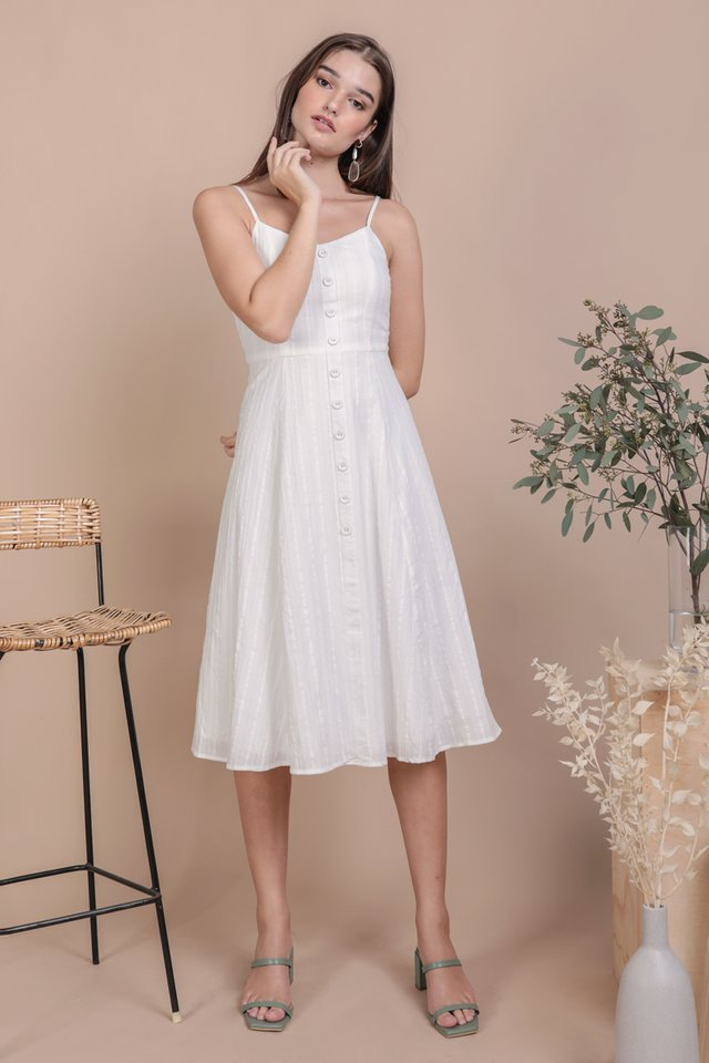 Libby Midi Dress (White Embroidery)